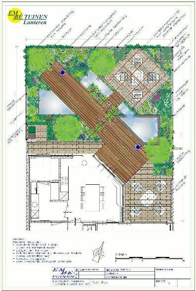 Tuin ontwerpen for Tuinontwerpen achtertuin